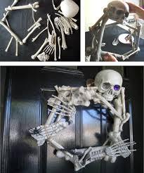 Grandin Road Halloween Wreath by Halloween Decorations Skeleton Indoor Outdoor Halloween Skeleton