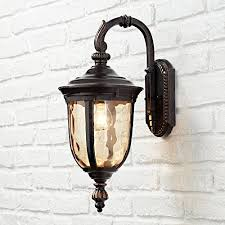 bellagio 16 1 2 high downbridge outdoor wall light vintage wall