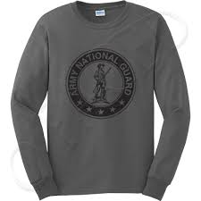 army national guard men u0027s long sleeve t shirt distressed ang