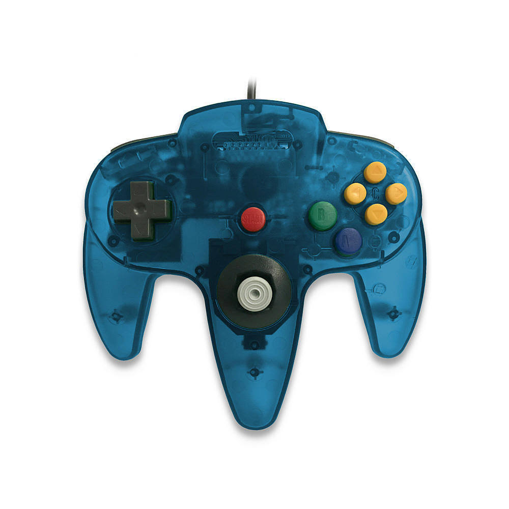 Skool Classic Wired Controller Joystick for Nintendo 64 N64 Game System - Turquoise