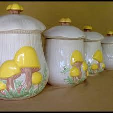 Vintage Arnels Mushroom Canister SetRetro Kitchen Decor70s