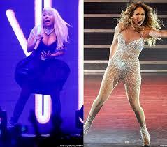 Nicki Minaj and Jennifer Lopez Have Wardrobe Malfunction on Stage