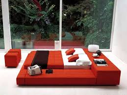 Bedroom Designs Red And White Bed Shelves
