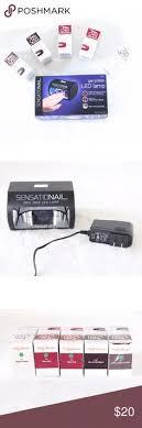 sensationail led l started kit w lint free