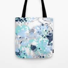 100 Cool Blue Design Silva Abstract Painting Large Canvas Art Print For Modern Decor Cool Blue Relaxing Design Urban Tote Bag