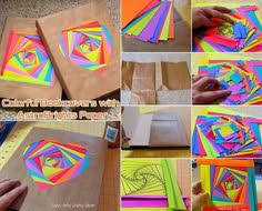 Creating Colorful Bookcovers With AstroBrights Paper