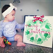 Handprint Footprint Christmas Wreath Craft Crafty Morning