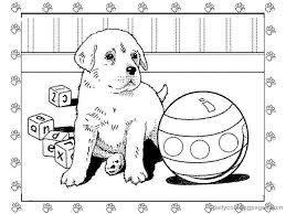Animal Printable Christmas Dog Coloring Pages