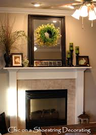 Decorating A Fireplace Mantel Easter Spring Mantle