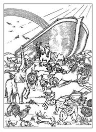 Noah Coloring Pages Noahs Ark Page 28 Images Rainbow