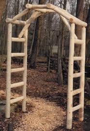 Garden Bridges Arbors In Rustic White Cedar Log Outdoor Furniture
