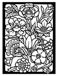 Detailed Flower Coloring Pages Christmas Dog Page