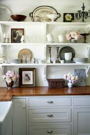 Kitchen Small Vintage Kitchen Wall Decor With Shelf Idea