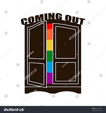ing Out Wardrobe Lgbt Symbol Open Stock Vector
