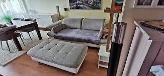 wohnzimmer sofa gebraucht sitz bzw fußbank tisch fkt