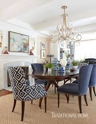 Fancy Dining Rooms Textures Mix And Mingle In The Formal Eating Area Where Nailhead