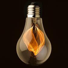 clear glass flicker bulb