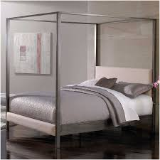 Black Leather Headboard Bed by Furniture Grey Wooden Canopy Bed Frame With Rectangle Fabric
