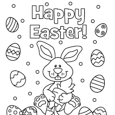 Detail Happy Easter Coloring Page