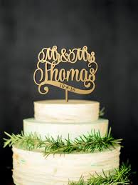 Mr Mrs Wedding Cake Topper With Last Name And Date Wooden Personalized Toppers Custom Rustic