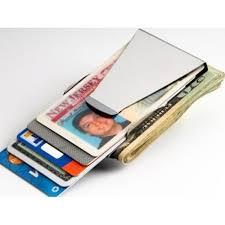 ultra slim double sided money clip cash credit card holder wallet