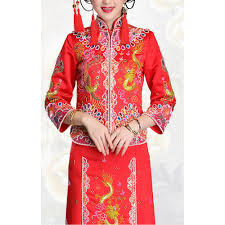traditional chinese clothing red chinese style marriage dress kwa