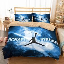 100 Michael Jordan Bedroom Set 3D Customize Bedding Duvet Cover Bedlinen
