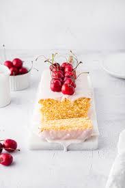 zitronenkuchen mit kirschglasur frischen kirschen kuchen