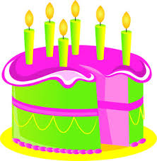 Birthday Cake Clipart Image Colorful Birthday Cake with Birthday Candles