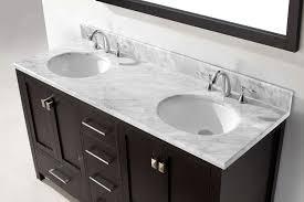 virtu usa 60 inch caroline avenue double sink vanity in espresso