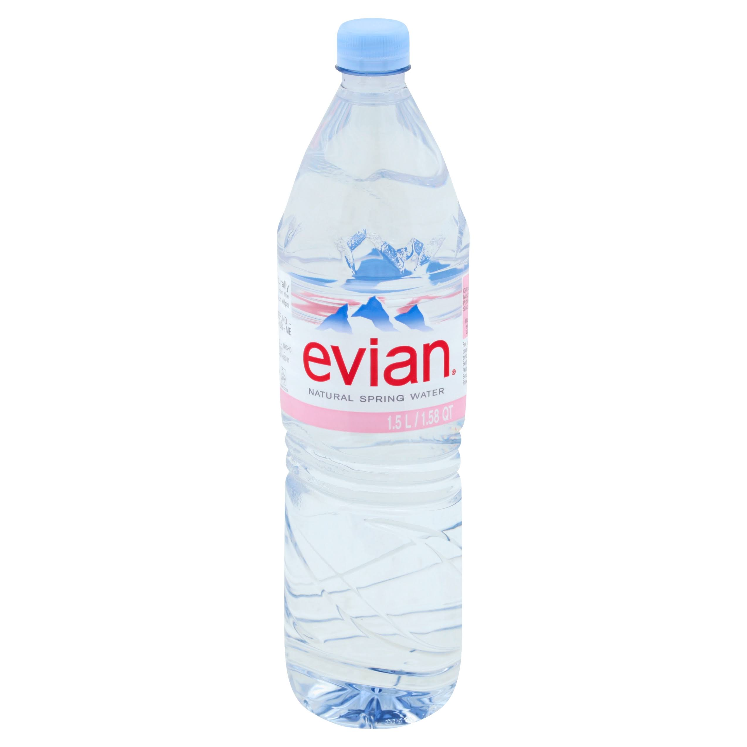 Evian Water, Natural Spring - 1.58 qt