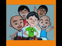 Upin Ipin Ultraman Ribut Family Friends Learning Colors Coloring
