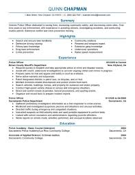 Police Officer Resume Sample Model In Building Your More Quickly And Easily Get Started On