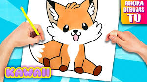 Como Dibujar Un ZORRO KAWAII Animales Kawaii YouTube