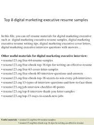 Sample Resume Headline For Software Engineer Fresher Top 8 Digital Marketing Executive Samples In This File