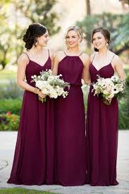 Trend We Love Burgundy Bridesmaid Dresses