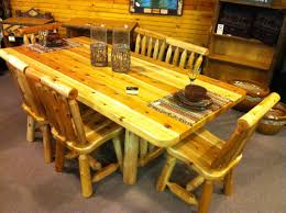 7 Foot Log Dining Table With 6 Chairs- $1,799. Table Also ... Raven Farmhouse 6piece Ding Set The Dump Luxe Fniture 132 Inch Round Satin Tablecloth Black 6 Foot Farm Table Kountry Kupboards With 8 Chairs Foot Cedar Table Steves Creations Correll 30w X 72l Ft Counter Height 36h 34 Top Highpssure Laminate Folding Lifetime Foldinhalf White Granite 6foot Plastic Traing 2 Trapezoidal Back Stack Chairs Details About Portable Event Party Indoor Outdoor Weatherproof Buffet New Vintage Oak Refectory Kitchen And In Brnemouth Dorset Gumtree Banquet Seating Decor How To Up For Holiday Parties Lerado 6ft Foldin Half Rect Table Raptor Concept Store