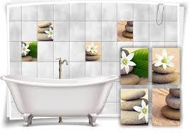 fliesenaufkleber sand steine wellness spa beige aufkleber