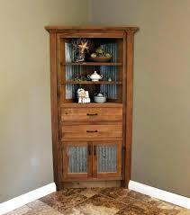 Corner Hutch Cabinet Plans Oak Dining Room China Prices Unique