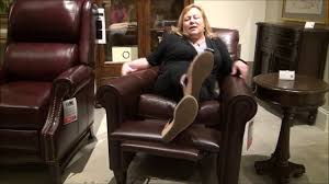 Bradington Young Sofa Construction by Haskins Leather Recliner Chair By Bradington Young Furniture Youtube