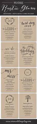 15 Beautiful Rustic DIY Wedding Invitations