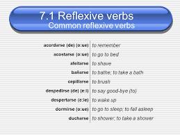 7 Common Reflexive Verbs