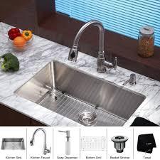 Kraus Kitchen Faucets Canada by Kraus Khu100 30 Kpf2150 Sd20 30 Inch Undermount Single Bowl