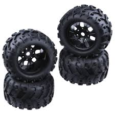 100 Truck Tires And Wheels 4Pcs 32 Rubber RC 18 150mm For Off Road Monster