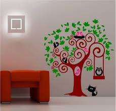 Sunning Animal Tree Lounge Kitchen Kids Bedroom Wall Art Sticker Vinyl DECAL