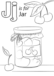 Click To See Printable Version Of Letter J Is For Jar Coloring Page