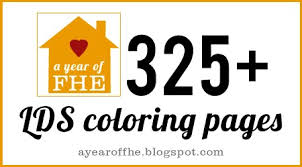 A Year Of FHE LDS Coloring Pages