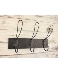 Wall Hooks Entryway Industrial Coat Hook Rustic Rack Fixer Upper Style Triple