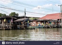 100 Homes In Bangkok By The River In Thailand Stock Photo 18265719