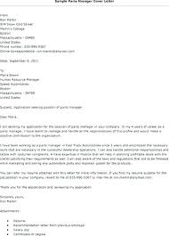 Parts Manager Resume Auto Example Address Recruiter Warehouse Sample Of Cover Letter